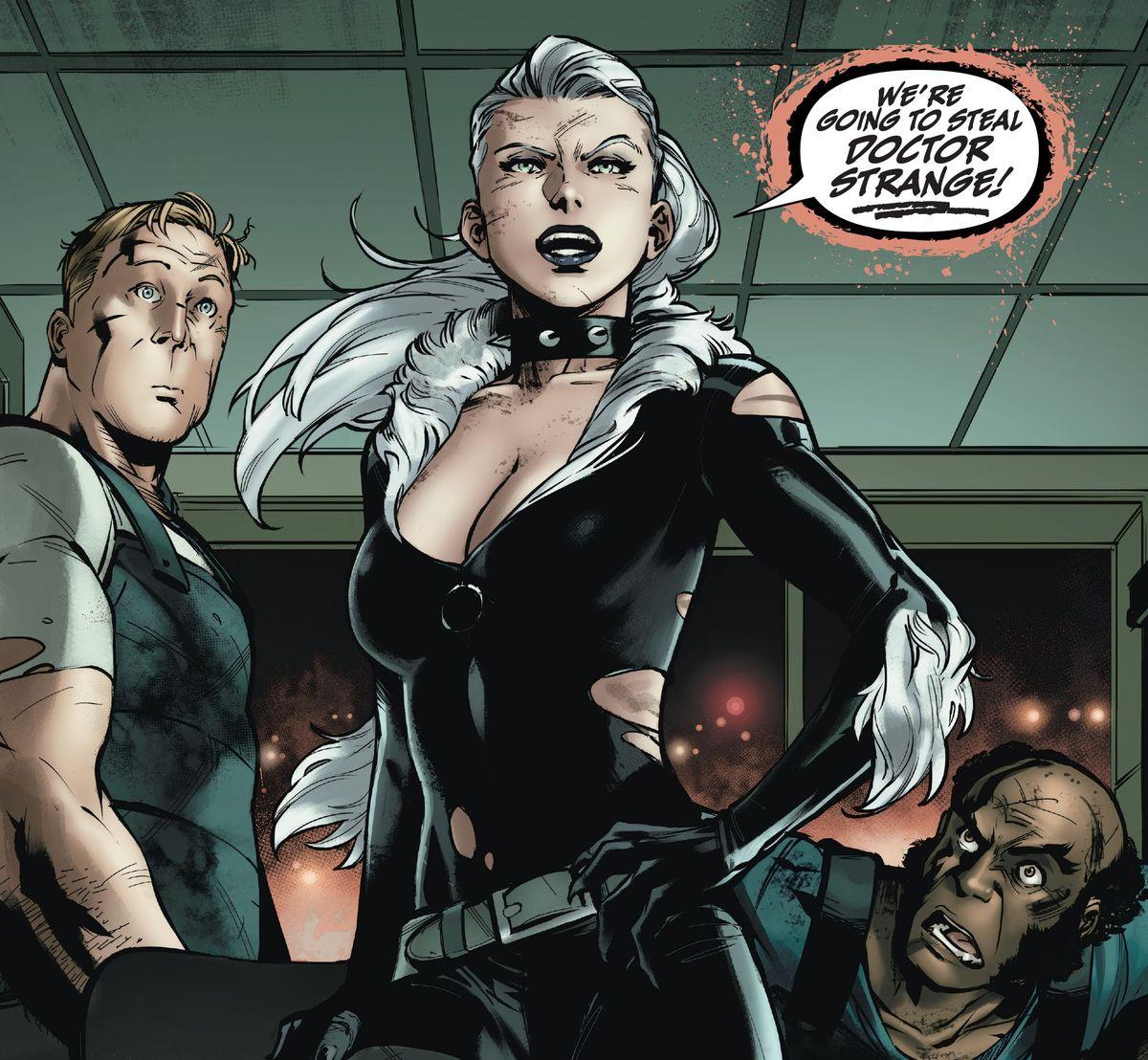 """We're going to steal Doctor Strange!"" declares Felicia Hardy/Black Cat in Black Cat #1, Marvel Comics (2020)."