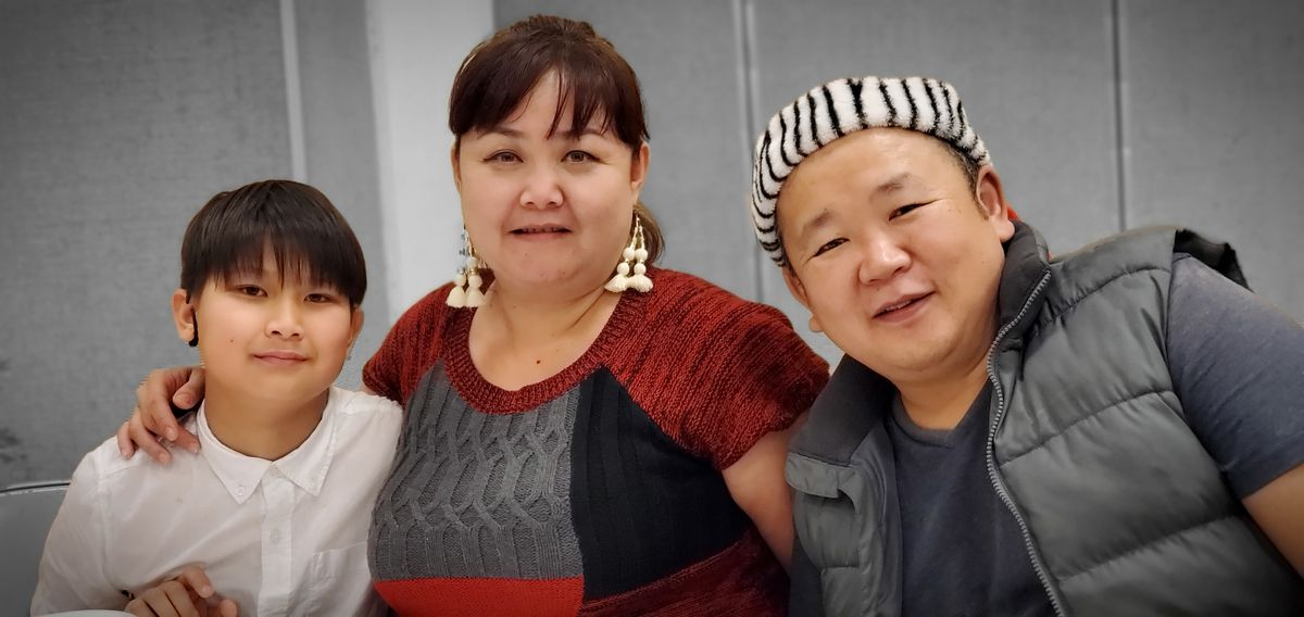 A Mongolian family in Los Angeles.
