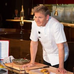 Gordon Ramsay demonstrates how to prepare some of the dishes at Gordon Ramsay Steak.