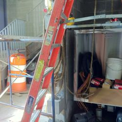 The kitchen is 900 square feet.  Here's the dumbwaiter.