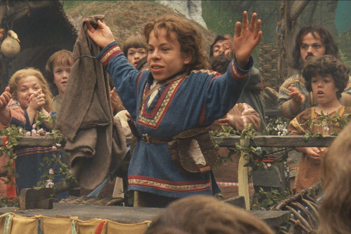 Willow Ufgood raises his hands in a still from Willow