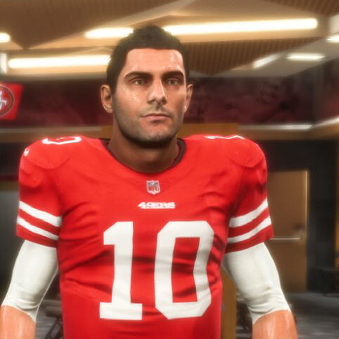 The Madden 19 design of Jimmy Garoppolo is something