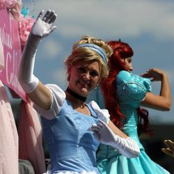 Cinderella rides in the Days of '47 Youth Parade in Salt Lake City on Saturday, July 20, 2013.
