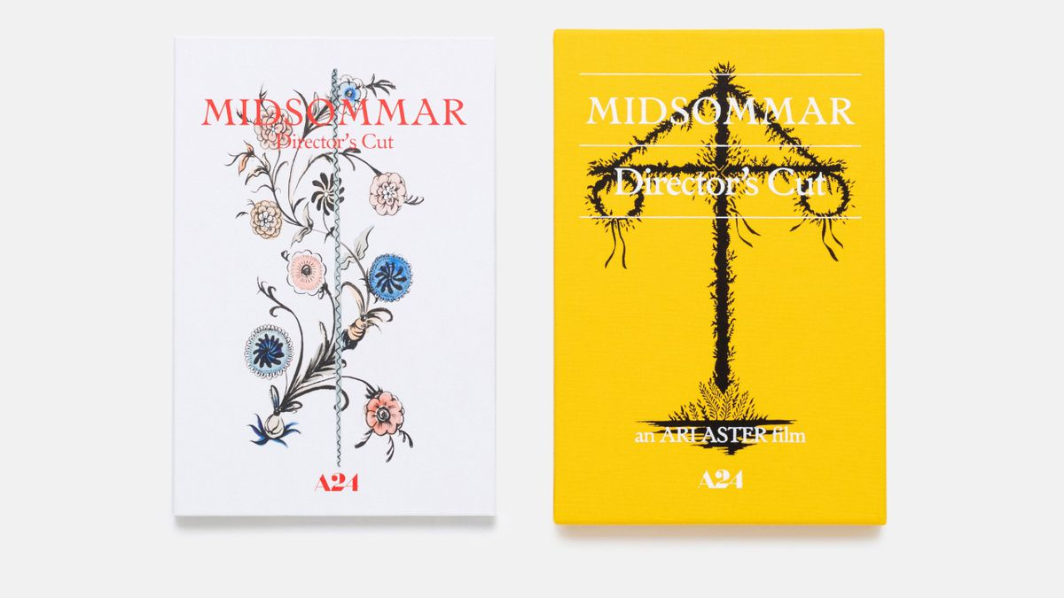 A side-by-side comparison of the disc sleeve and cover of Midsommar Director's Cut: Collector's Edition