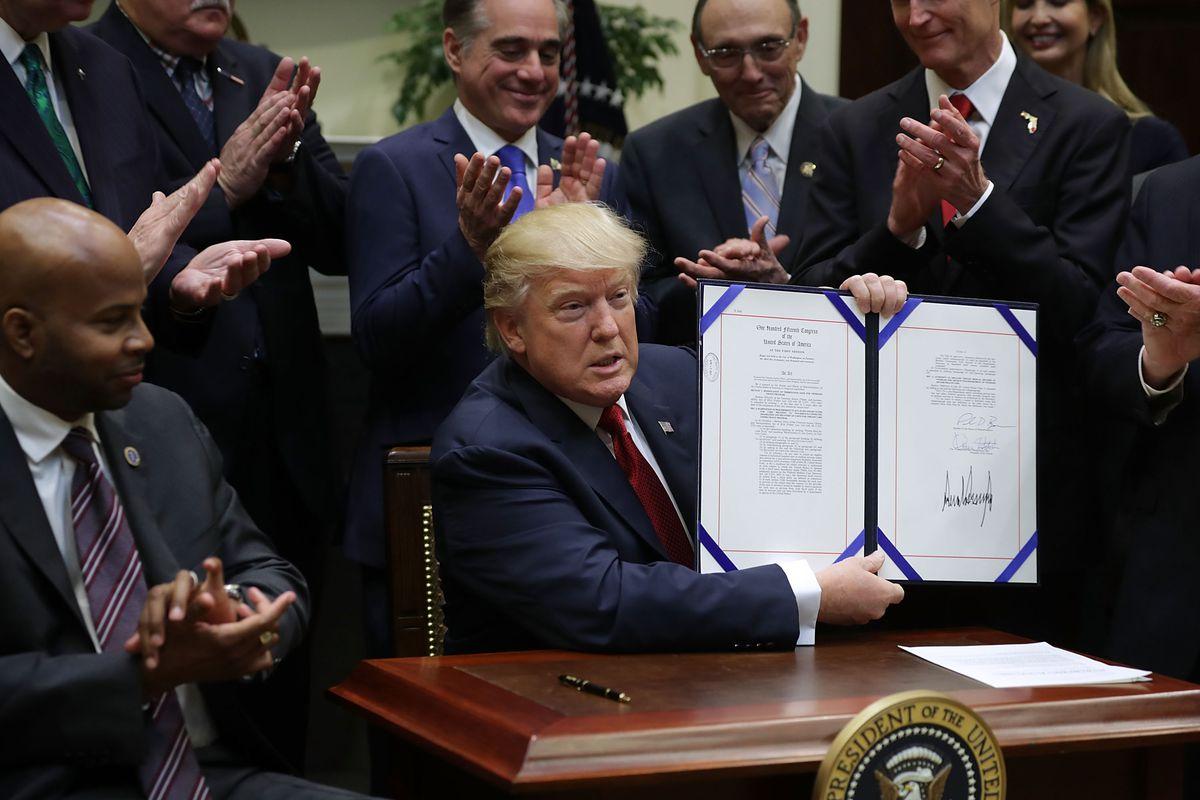 President Trump Signs Veterans Choice Program And Improvement Act