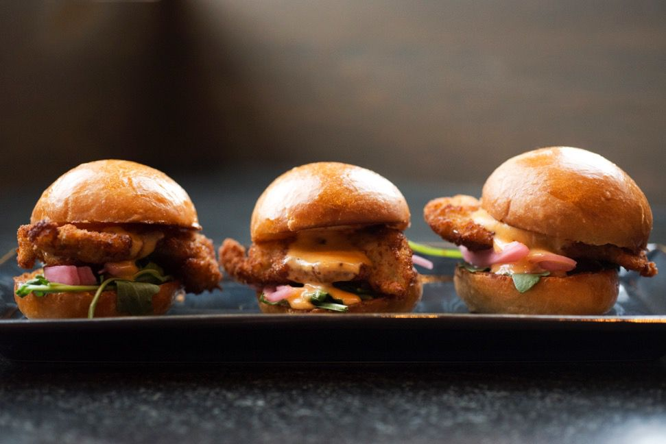 Oyster sliders at Island Creek Oyster Bar