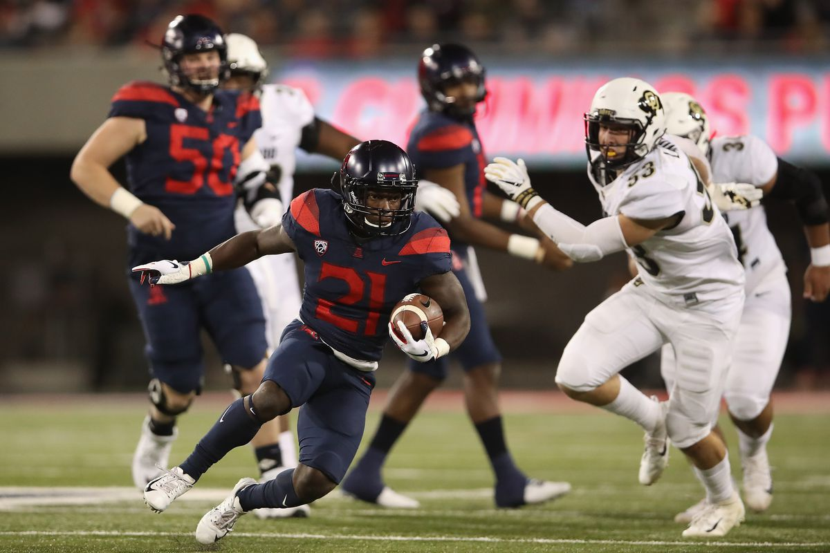 """<span data-author=""""5158751"""">arizona-wildcats-rushing-football-pac-12-leaders-jj-taylor-wide-receiever-blocking-offensive-line </span>"""