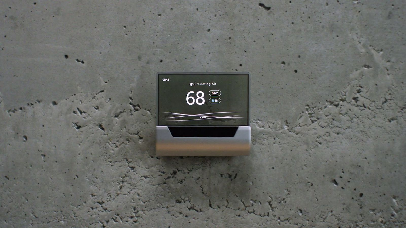 microsoft unveils a beautiful cortana powered thermostat. Black Bedroom Furniture Sets. Home Design Ideas