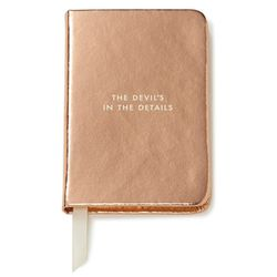 """<b>Kate Spade New York</b> mini notebook, <a href=""""http://shop.nordstrom.com/s/kate-spade-new-york-the-devils-in-the-details-mini-notebook/3891205"""">$14</a>"""