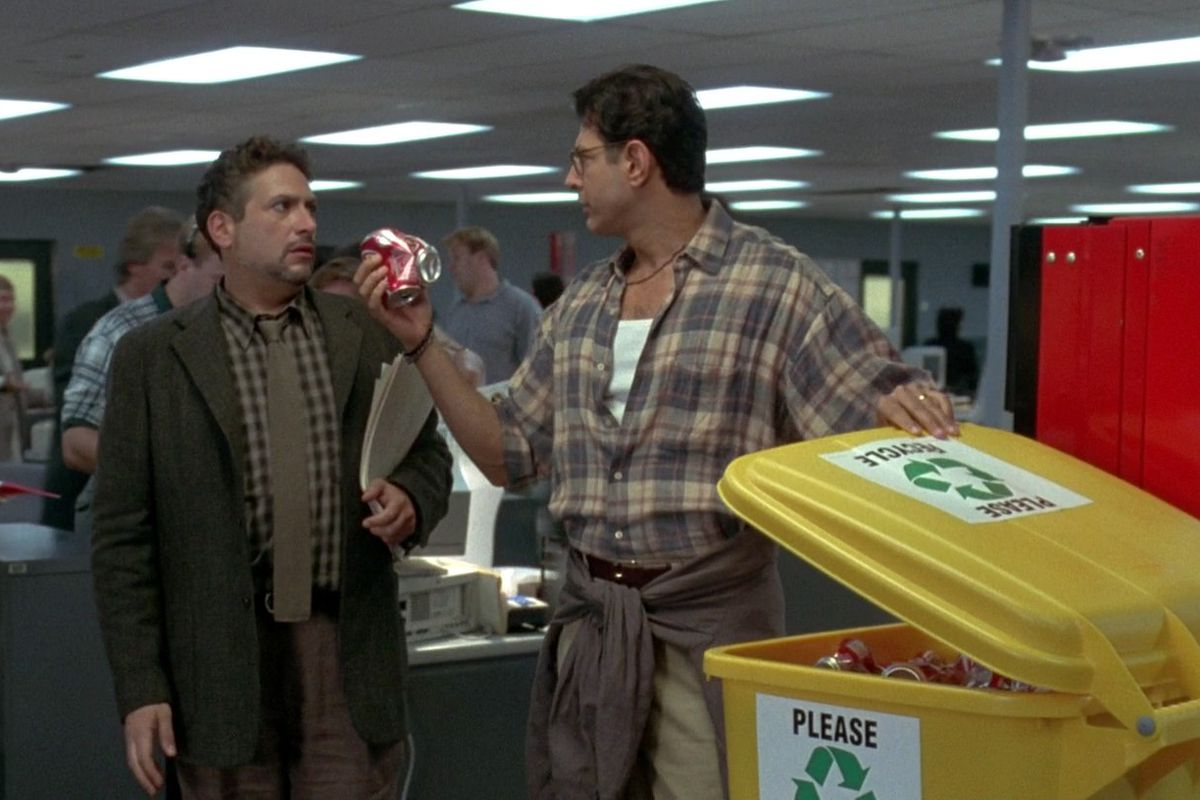 David Levinson freaks out about recycling.
