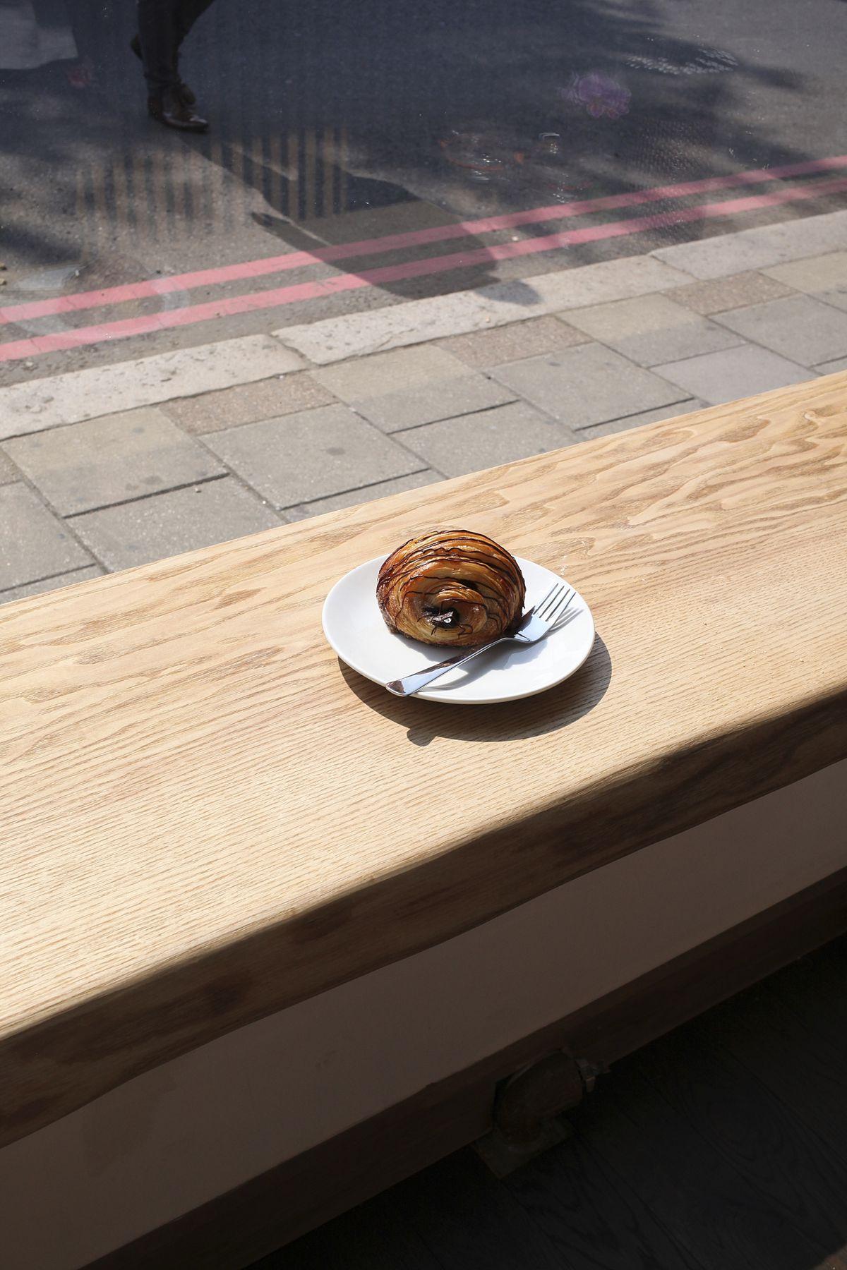 A chocolate croissant at Kapihan in Battersea