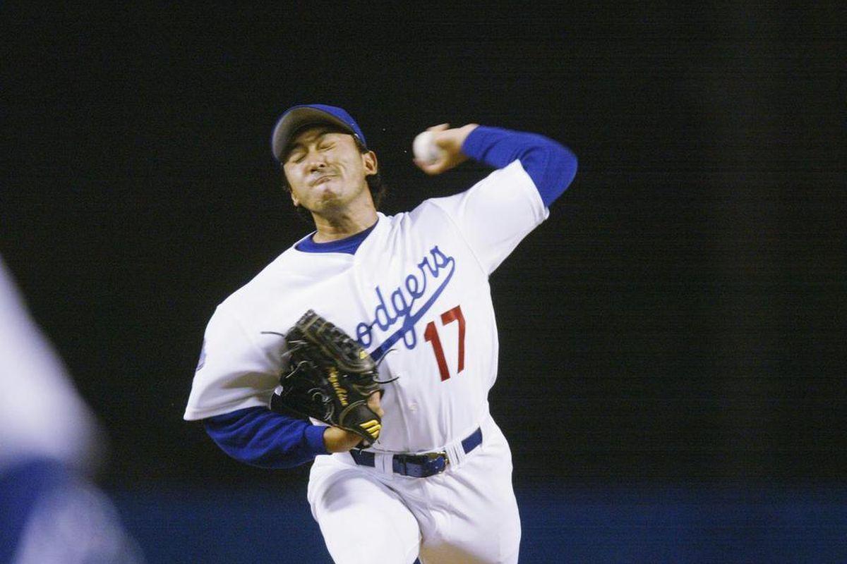 Kazuhisa Ishii won his first six starts as a Dodger (<em>Photo: Stephen Dunn   Getty Images</em>)