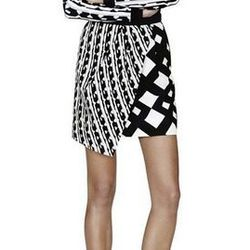 Skirt in Black/White Print, $34.99