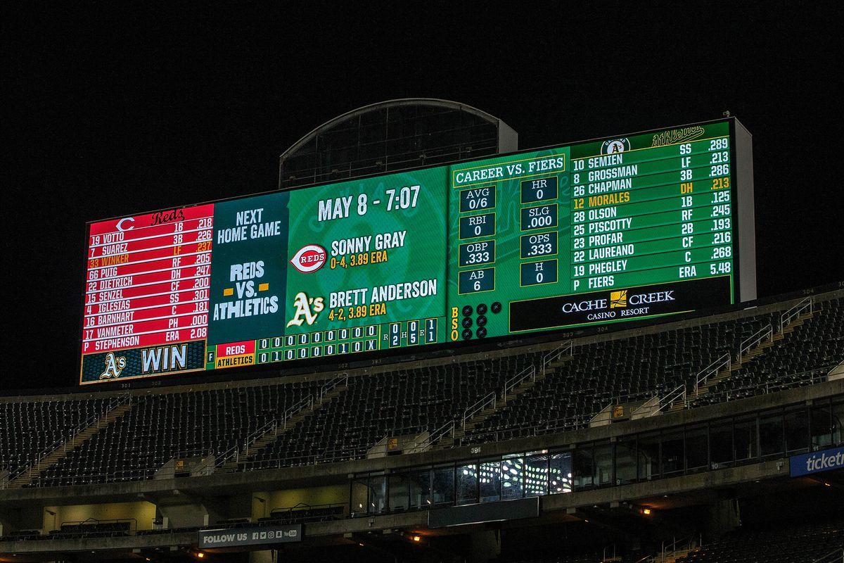 Cincinnati Reds v Oakland Athletics