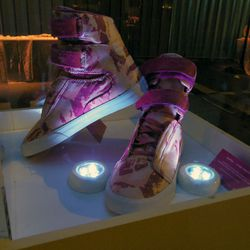 Supra's all-pink-everything kicks, designed exclusively for the event.