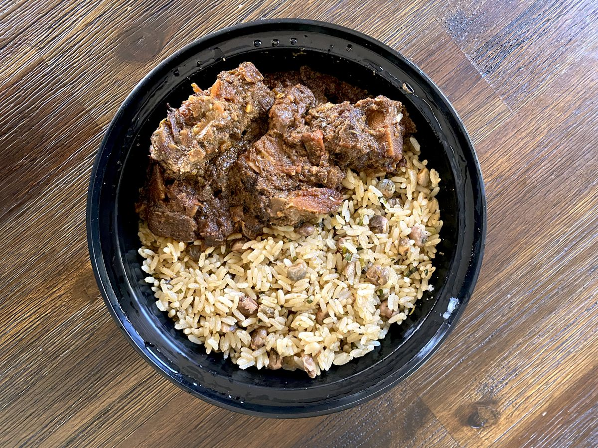 Oxtail stew from Mia's Kitchen in Manhattan Beach.