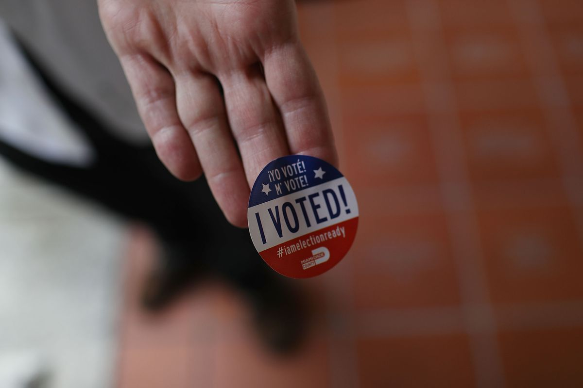 Voters go to the polls in the Florida primary.