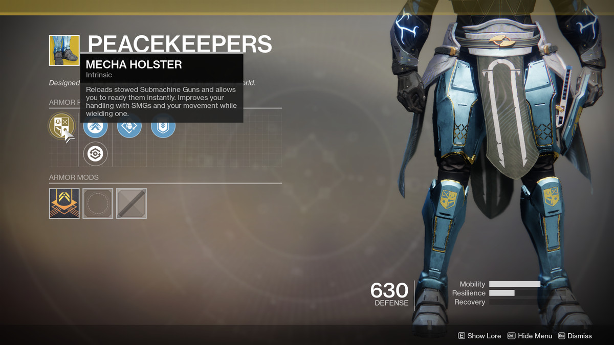 Peacekeepers Exotic Destiny 2