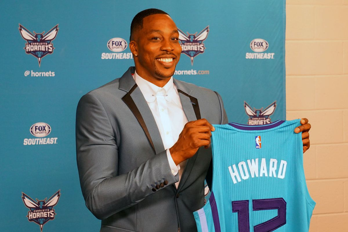 "timeless design a9b3c 6651d Dwight Howard ""thrilled"" to be in Charlotte - At The Hive"