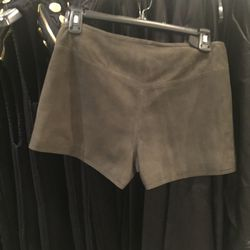 Suede shorts, $125