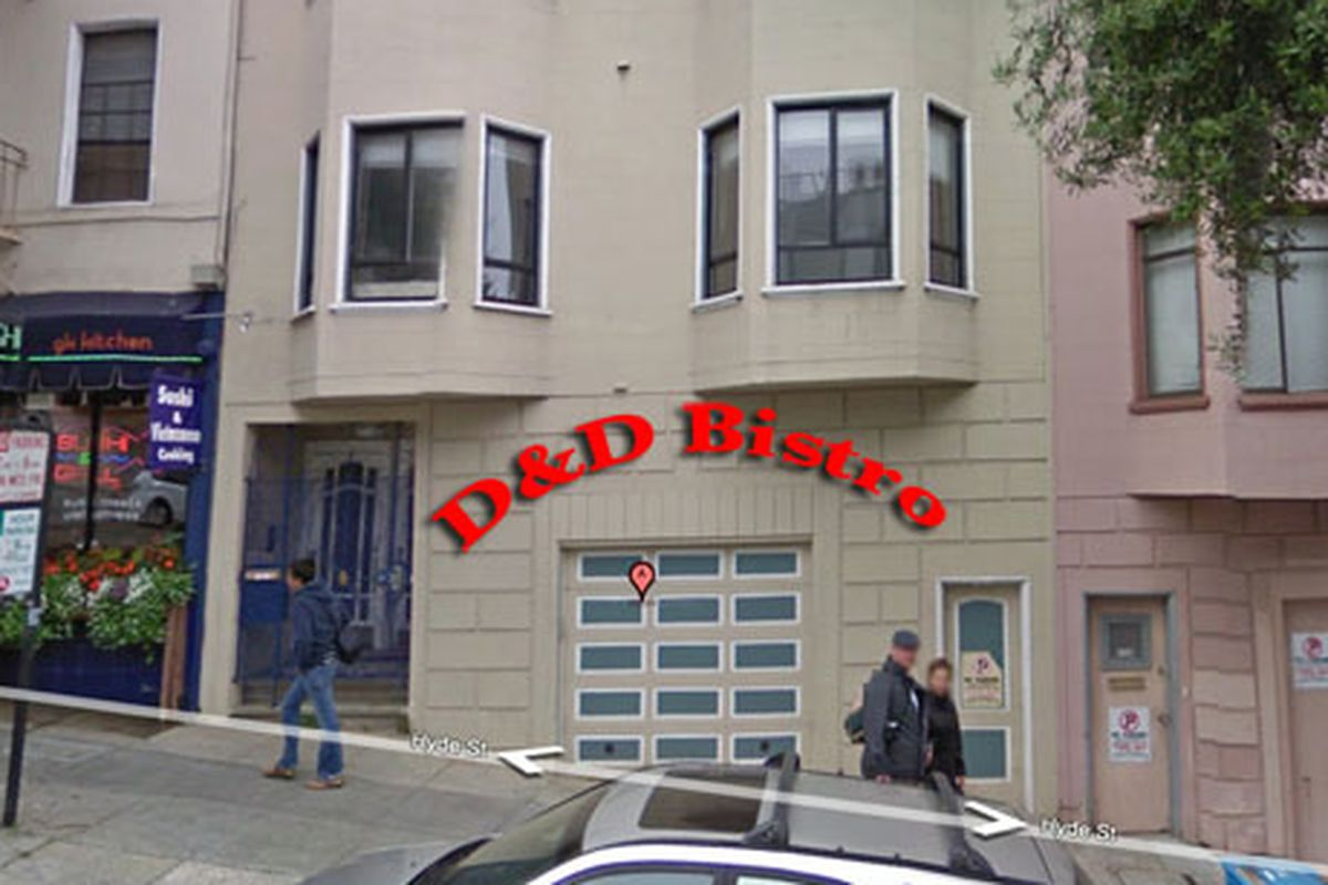 Artist's rendition of forthcoming D & D Bistro.