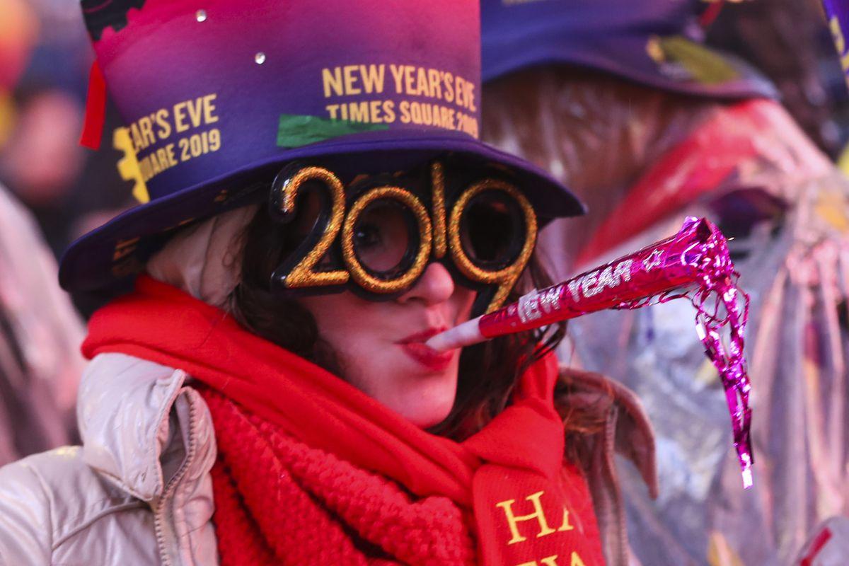 U.S.-NEW YORK-TIMES SQUARE-NEW YEAR CELEBRATION