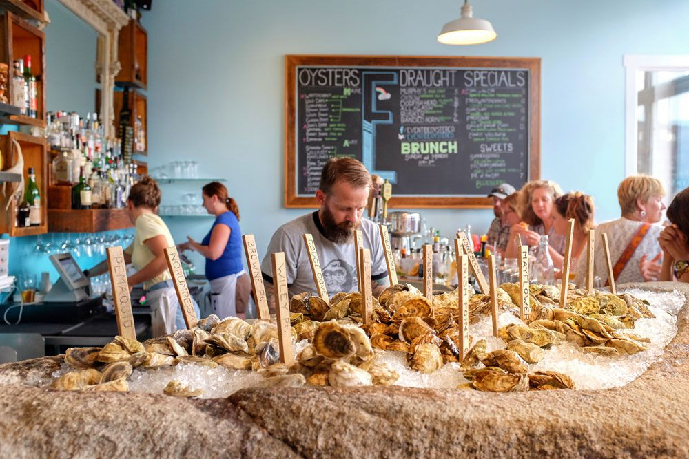 Eventide Oyster Co. in Portland, Maine