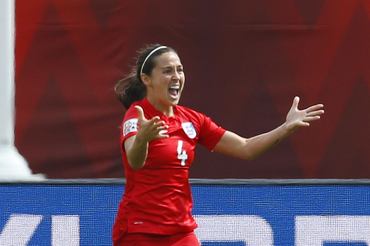 Here's Williams leading England to a third-place finish in last year's Women's World Cup.