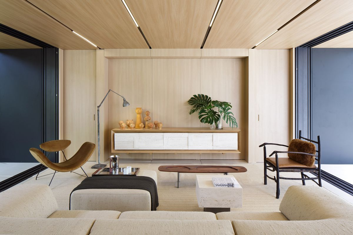 Living room with natural colors