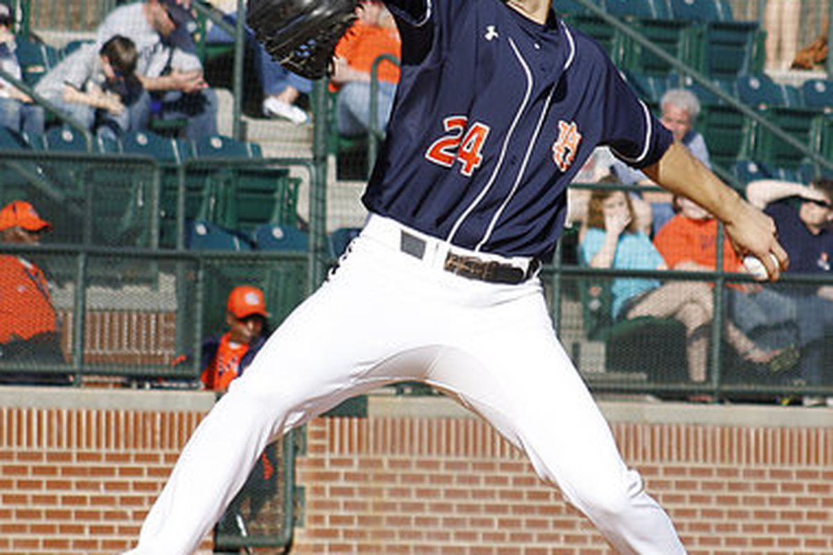 Southpaw sophomore Will Kendall (4-0) will be the starter in the second game of the weekend series against Alabama. Tonight's game begins at 7 p.m. in Tuscaloosa. (<em>photo, Todd Van Ernst</em>)