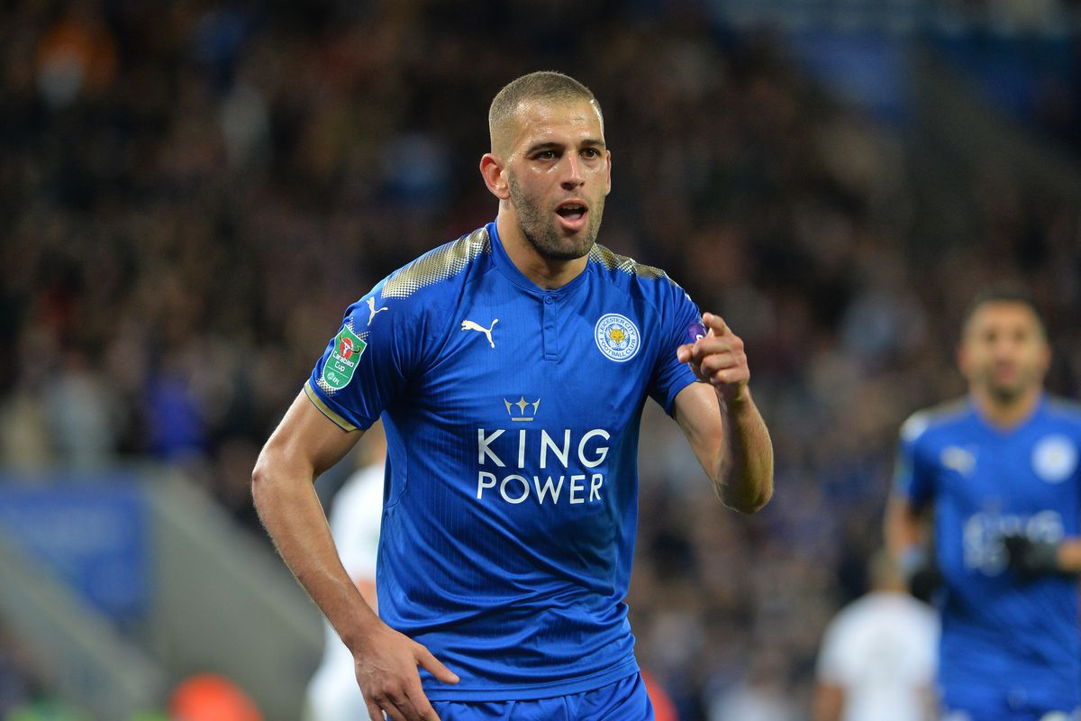 Newcastle United confirm loan signing of injured Leicester forward Islam Slimani