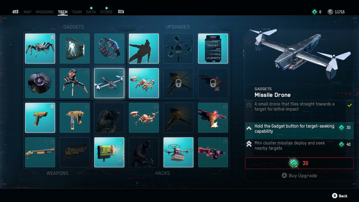 Missile Drone gadget Watch Dogs Legion