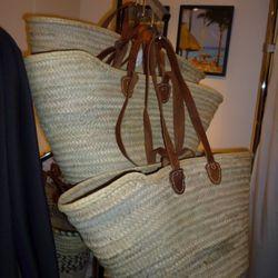 Moroccan woven beach bags