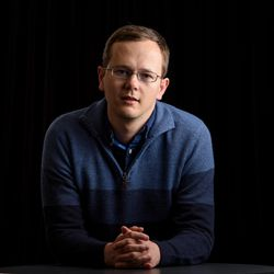 """Steinacker, an aspiring novelist from Orem, won a competition last June that earned him a spot in the """"L. Ron Hubbard Presents Writers of the Future Volume 33."""""""