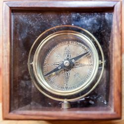Forget the compass app on your phone; wouldn't you rather carry this handsome box compass, <b>$36</b> everywhere you go?