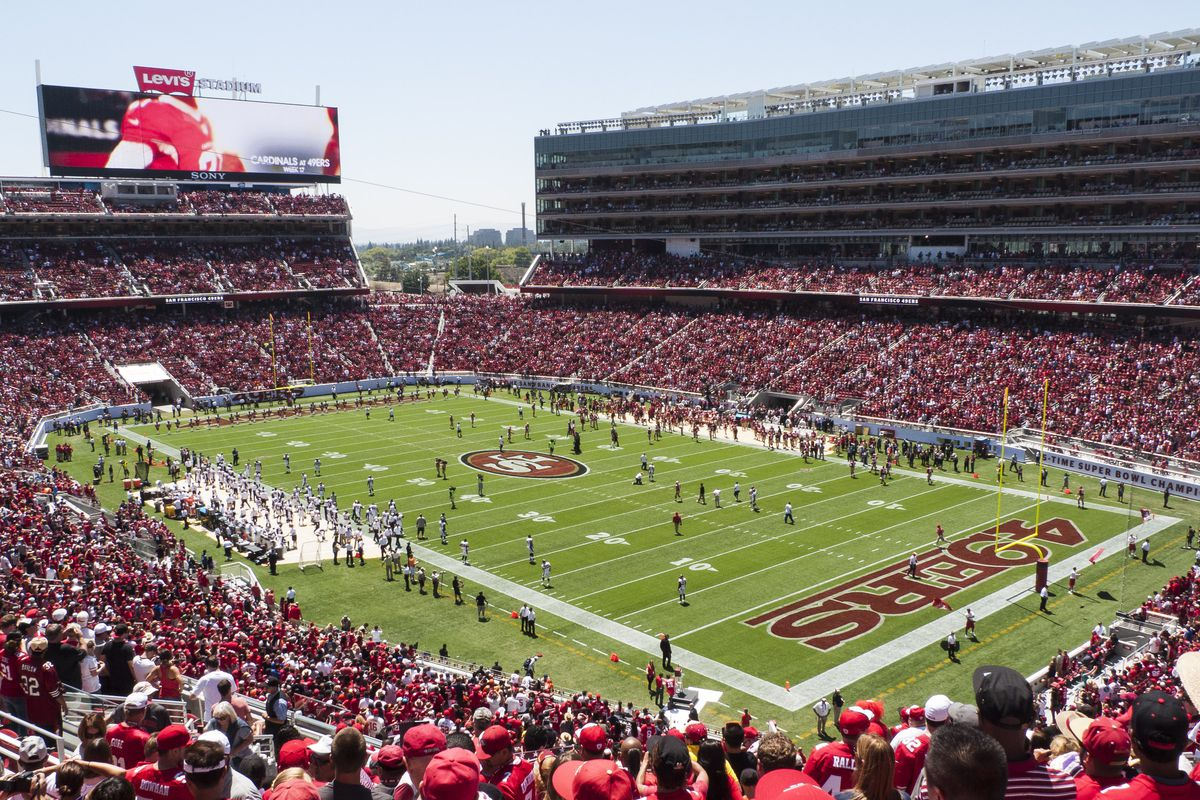 Levi's Stadium, full of fans during a game.