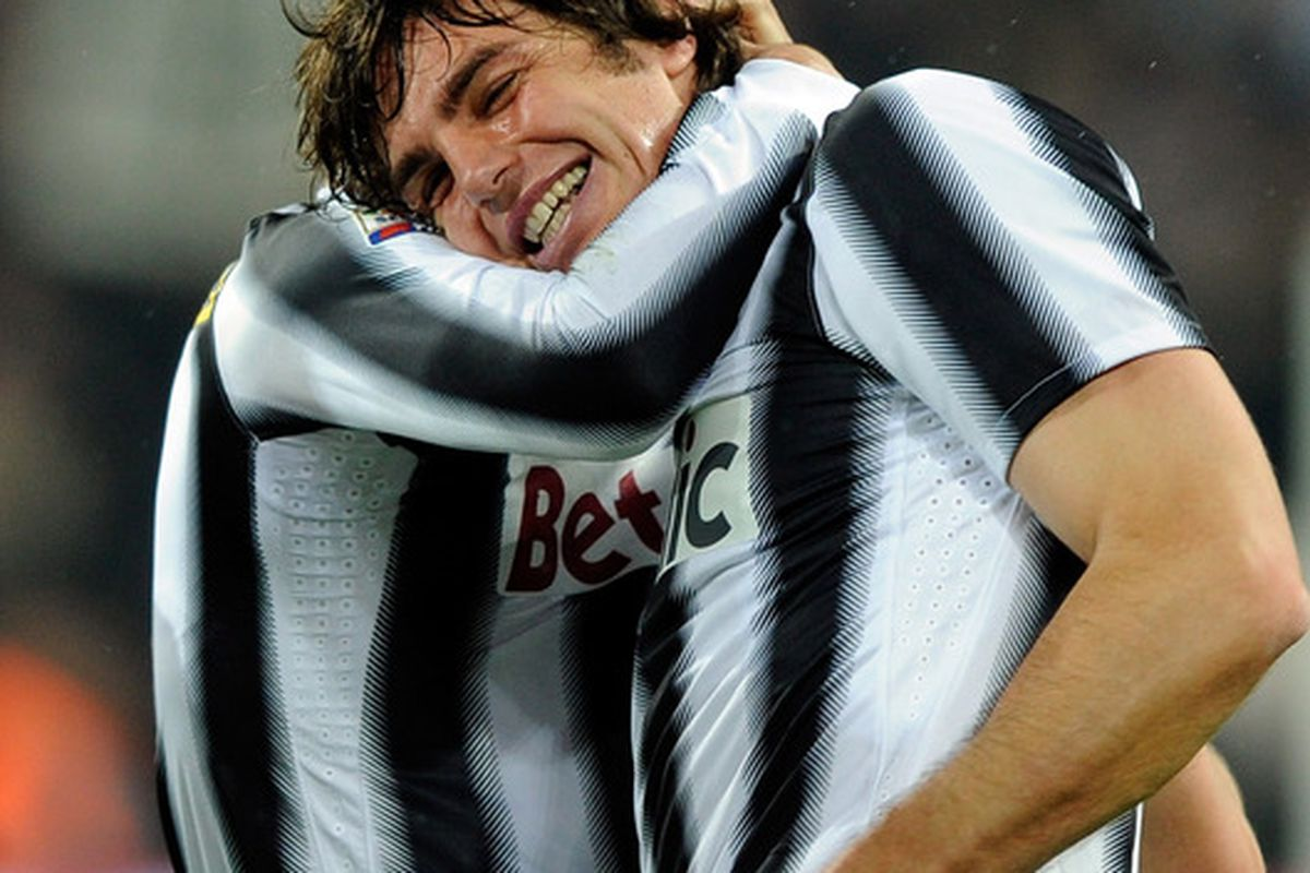 TURIN, ITALY - MARCH 03:  Paolo De Ceglie of Juventus FC celebrates scoring the first goal during the Serie A match between Juventus FC and AC Chievo Verona at Juventus Arena on March 3, 2012 in Turin, Italy.  (Photo by Claudio Villa/Getty Images)