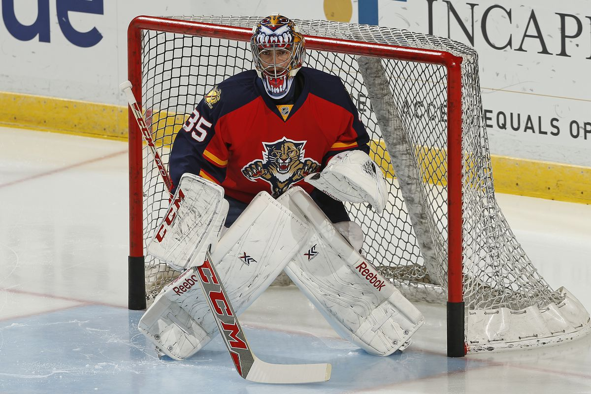 Al Montoya returned to backstop the Cats to a season-ending win over the Devils.