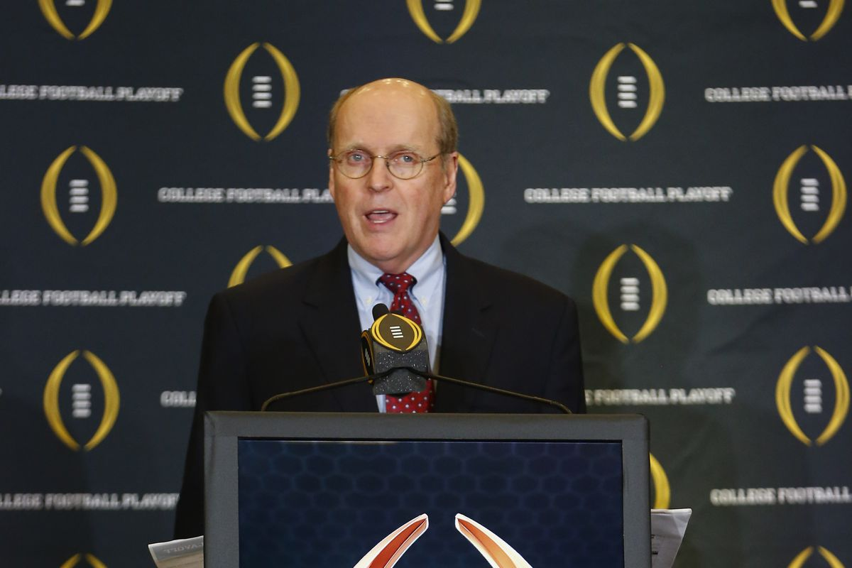 Bill Hancock, the executive director of the College Football Playoff.