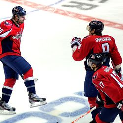 Brouwer and Ovechkin Celebrate