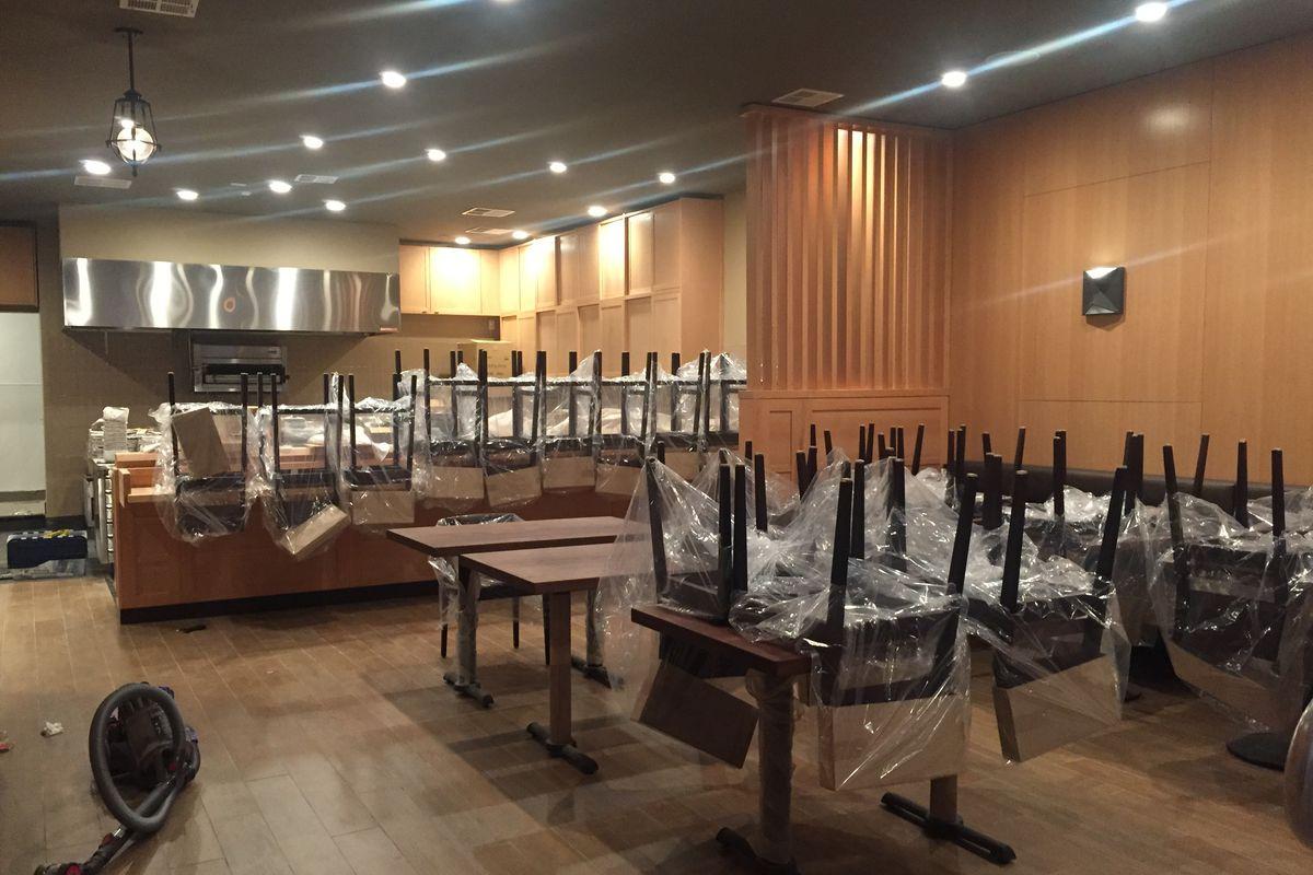 Kinjo's dining room in progress