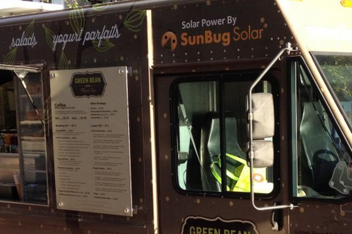 Blazing Salads on Wheels will take over the Green Bean Mobile Cafe truck, pictured here