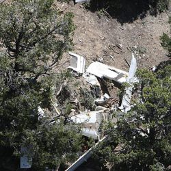 Scene of a plane crash in Kane County, Wednesday, May 30, 2012.