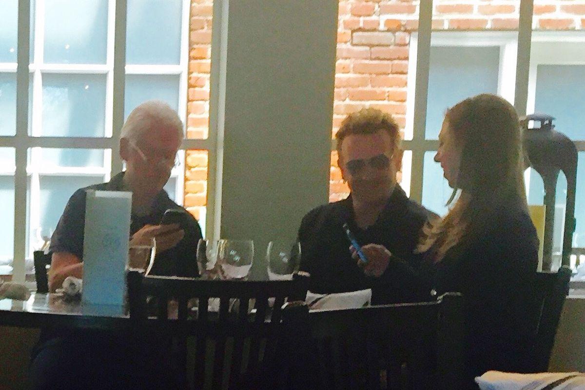 Bill Clinton, Bono, Chelsea Clinton