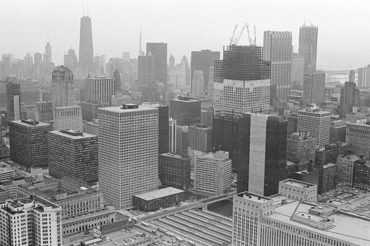 Chicago skyline from 1972