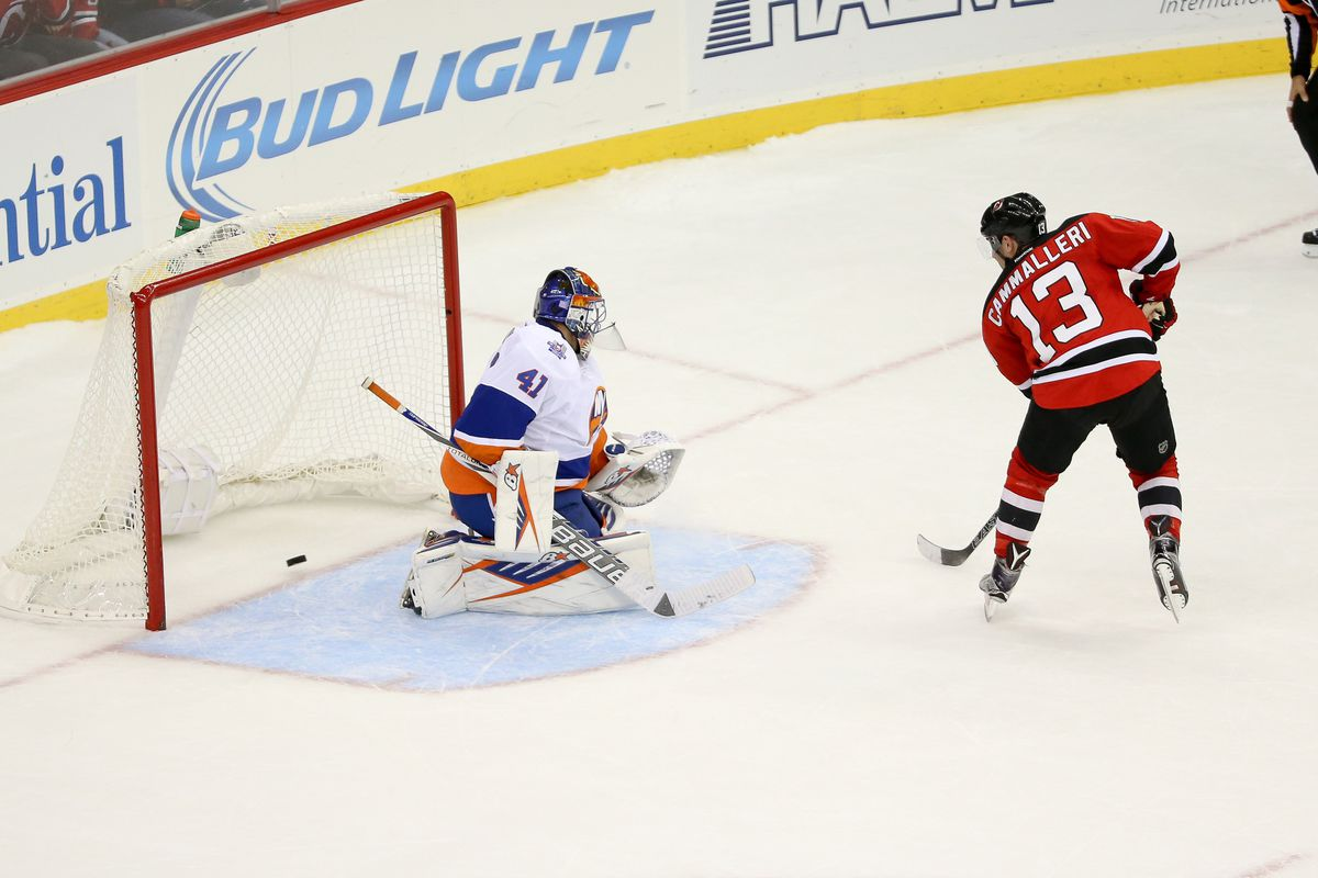 Pictured: The shootout winner from Mike Cammalleri