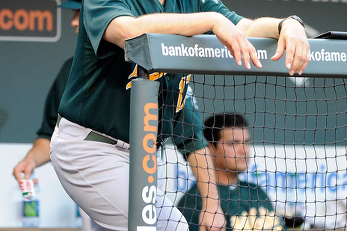 New York Mets hired former Oakland A's manager Bob Geren as bench coach.  (Photo by Greg Fiume/Getty Images)