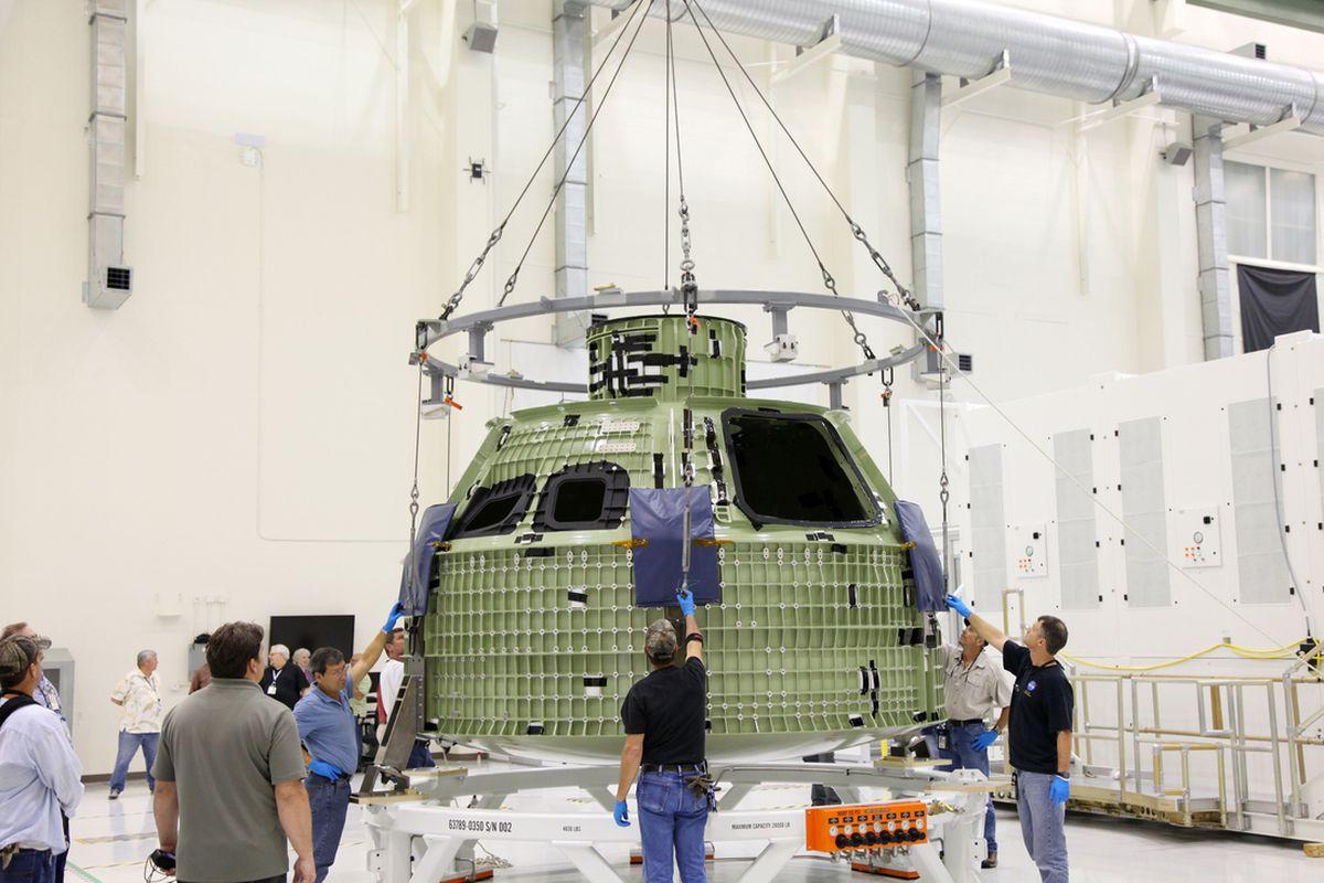 Orion capsule (credit NASA/Gianni Woods)