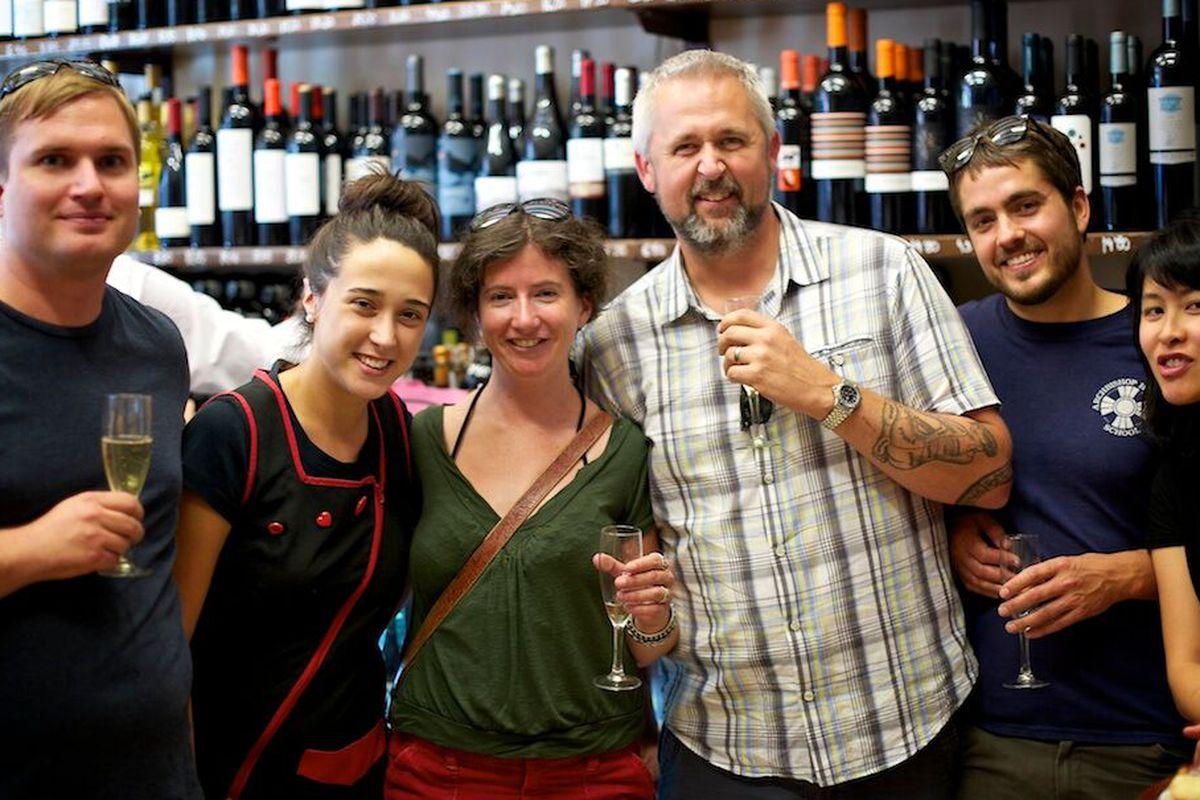 Josh Scofield (L), John Gorham, and friends in Spain