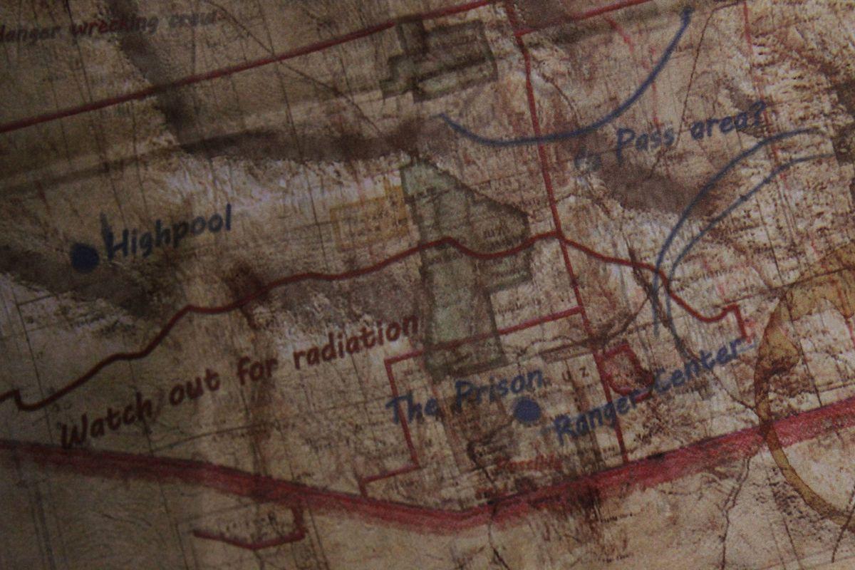 Map Of Arizona Wasteland 2.Wasteland 2 S Cloth Map Reminds Us Of The Glory Days Of Pc